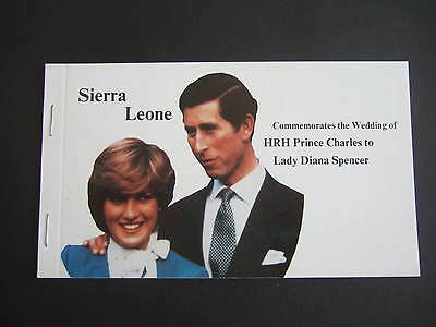 Sierra Leone 1981 Royal Wedding Booklet Prince Charles & Lady Diana Spencer x