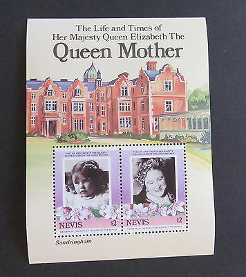 Nevis 1985 Queen Mother's 85th Birthday MS miniature sheet MNH UM unmounted xx