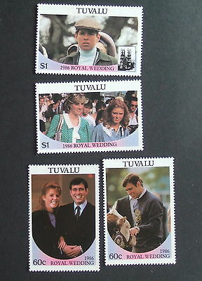 Tuvalu 1986 Royal Wedding set UM MNH unmounted Sarah Ferguson & Prince Andrew x