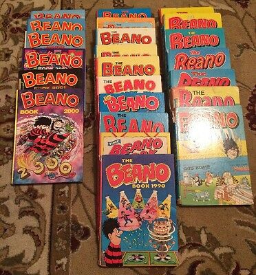 Beano Annuals X23 Great To Start A Collection, Very Good To Near Mint Condition