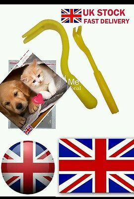 UK PETS TICK REMOVER DOG CAT PEOPLE HORSE PET FLEAS PUPPY KITTY tic pup cats