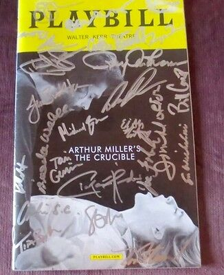 *rare* The Crucible Original Cover Version Entire Broadway Cast Signed Playbill!