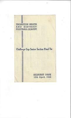 ACC. & TAB. v Southern Railway challenge Cup Final 1947/48 @ Crystal Palace