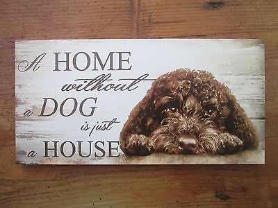 Cavapoo,Cockapoo , brown, dog house and home plaque other colours available
