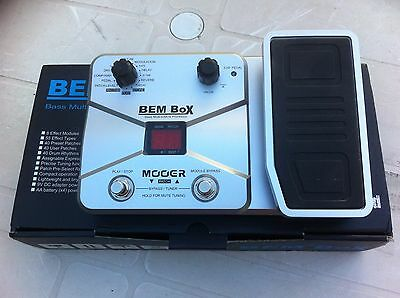 Mintish Mooer Bem Box Bass Guitar Effects Module  Expression Pedal , Power Sup.