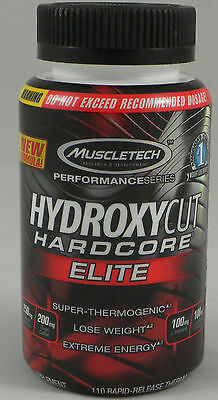 TOP Muscletech Hydroxycut Hardcore Elite 110 kaps Super Thermogenic Fatburner
