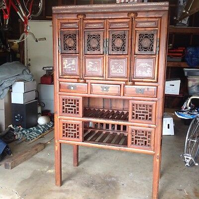 Unique Tall Antique Chinese Storage Cabinet