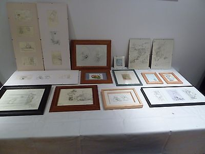 Collection Of Winnie The Pooh Postcards & Prints In Various Frames & Sizes
