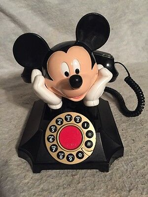 Vintage Style Phone Telemania Disney Mickey Mouse Desk Telephone By Segan.