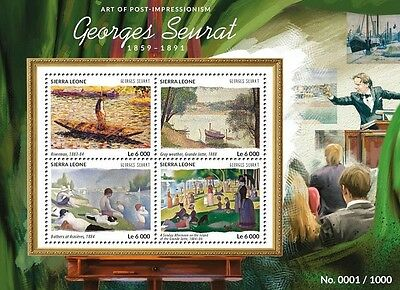 Sierra Leone 2015 Georges Seurat Paintings Impressionism France S/S 15417