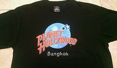 PLANET HOLLYWOOD Bangkok T-Shirt Size: Large New & On Sale L@@K!