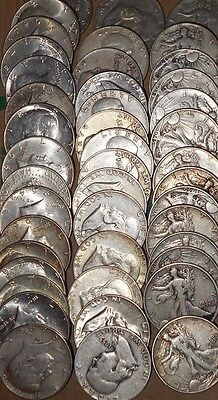 Lot Of 3 Coins Walking Liberty, Franklin, Kennedy Half Dollar 90% Silver Bullion