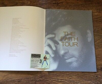RARE UK Faith Tour Programme PLUS Concert Ticket Stub-George Michael (Wham!)