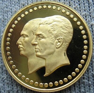 Iran 1976 Gold Proof Medal Bank Jubilee 5g 21mm