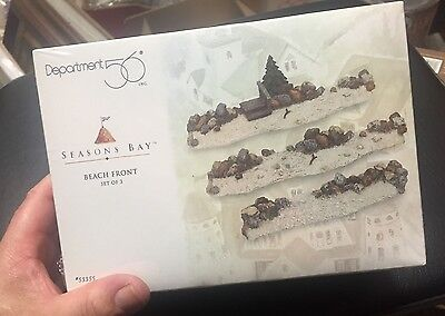 Seasons Bay, Department 56, Beach Front Set of 3, NIB, 563355, Rocky shore