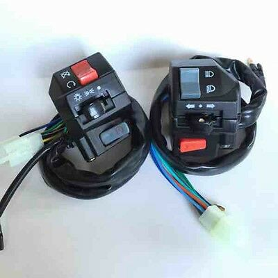 """New Motorcycle Switch 7/8"""" Handlebar Turn Signal Headlight Switches Left & Right"""