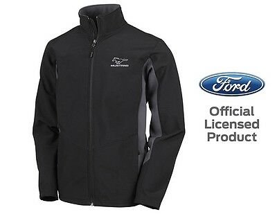 Men's Ford Mustang Boom Jacket Official Licensed Black Gray