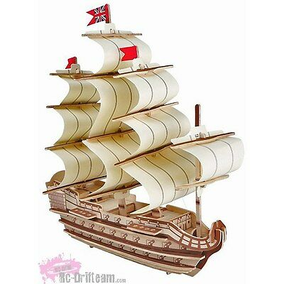 """Puzzle 3D Barco """"Galeon Victory"""" Madera. 3D Puzzle of Battleship """"Victory"""""""