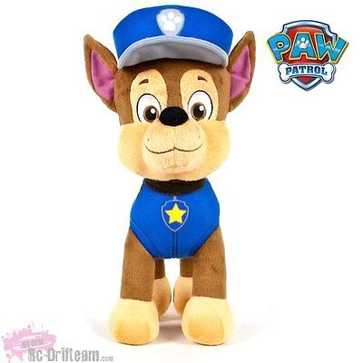 CHASE, Peluche Patrulla Canina 30cm, Nickelodeon Oficial, Paw Patrol Soft Plush