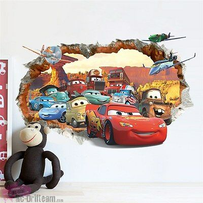 Vinilos Decorativos 3D Cars. Wall Stickers Vinyl Decal Lightning McQueen