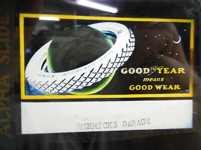 1920s Goodyear Tires Movie Theater Glass Advertising Slide Silent Era Vintage VG