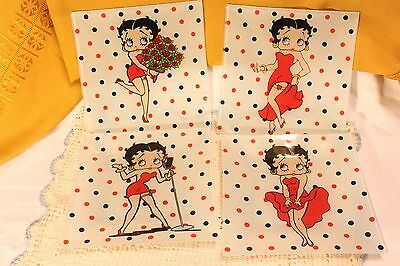 Betty Boop 4 Polka Dot Square Plates