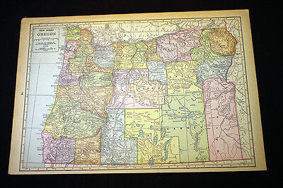 Antique Map 1929 Oregon or Oklahoma