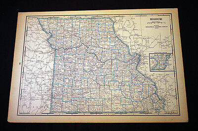 Antique Map 1929 Montana or Missouri