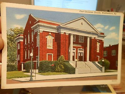 Vintage Old KENTUCKY Postcard Middlesboro First Christian Church Sunday School