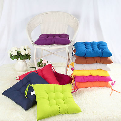 40*40cm Soft Cushion Pad Seat Chair Patio Home Car Sofa Office -Square 8 Colors