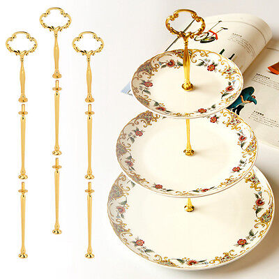 Multi-style 3 Tier Cake Plates Stand Handle Fitting Alloy Hardware Rod  Stand
