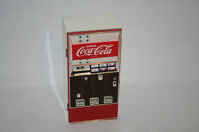 Coca Cola Die cast Can Vending Machine Musical Bank 1996 Vintage Working