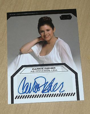 2012 Topps Star Wars Galactic Files autograph Carrie Fisher as Princess Leia