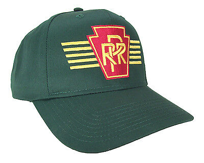 Pennsylvania Railroad PRR Keystone with Stripes Embroidered Cap Hat #40-1009G
