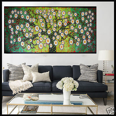 Tree Landscape Painting Aboriginal Art Canvas Large jane crawford