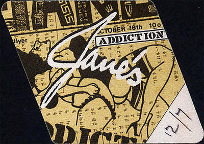 Jane's Addiction RARE ORIGINAL 12/7/1990 Tour Backstage Pass USED Salt Lake City