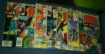 ghost rider 7 issue bronze age comics lot run set movie marvel collection book