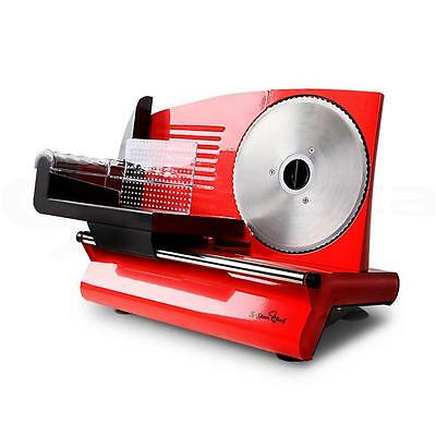 Electric Food Slicer for Meat Cheese Smallgoods Bread Fruit Deli Red