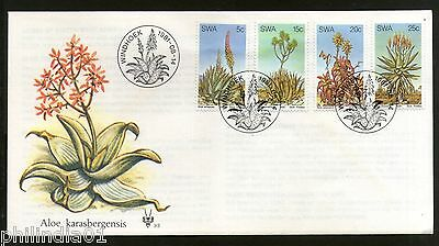 South West Africa 1981 Aloe Medicinal Plant Cactus Flowers Sc 475-78 FDC # 6115