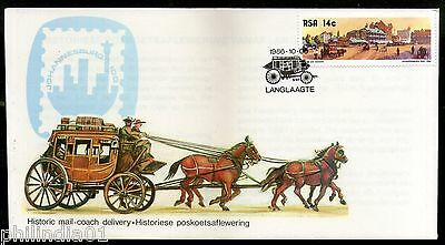 South Africa 1986 Historic Mail Coach Delivery Transport Special Cover # 7054