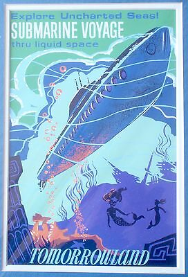 NEW Disneyland Attraction Print Double Matted Submarine Voyage Tomorrowland WoW!