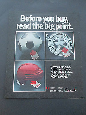 """Vintage 1981 Shop Canadian Government Print Ad, 11.875"""" X 10"""""""