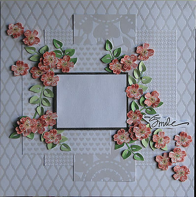 Handmade Scrapbook Page Pre-Made Scrapbooking Layout - Female Theme