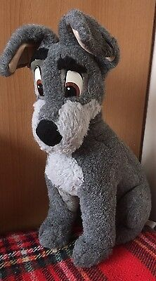 "Huge 18"" Vintage,Disney Store Lady and the Tramp, Tramp soft toy, Large"