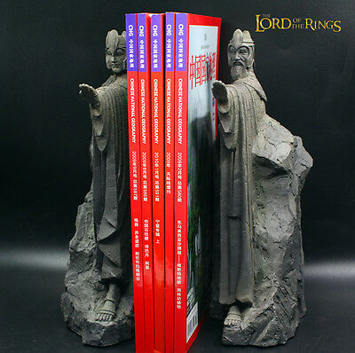 25CM The Lord of the Rings Hobbit Third Gate of Gondor Argonath Statue Bookends