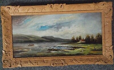 FRAMED OIL ON BOARD PAINTING by D.METREWELL A BEAUTIFUL LANDSCAPE VIEW