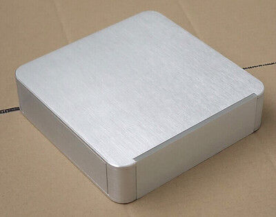 Silver Round Corner Aluminum case chassis preamplifier case 214x55x214mm