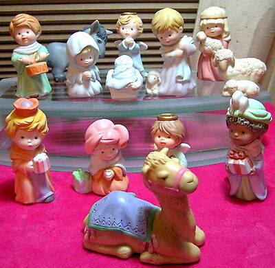 Avon Heavenly Blessings Nativity Christmas Collection 1986 Set Holy Family Camel