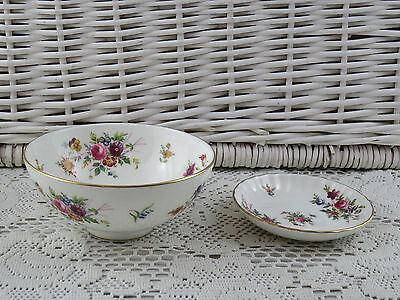 Bone China  Minton Marlow Sugar Bowl / Dish & Pin Dish Coaster Butter Curl Dish
