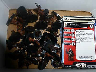 Star Wars miniatures 20 jawa minis with cards, great for building armies